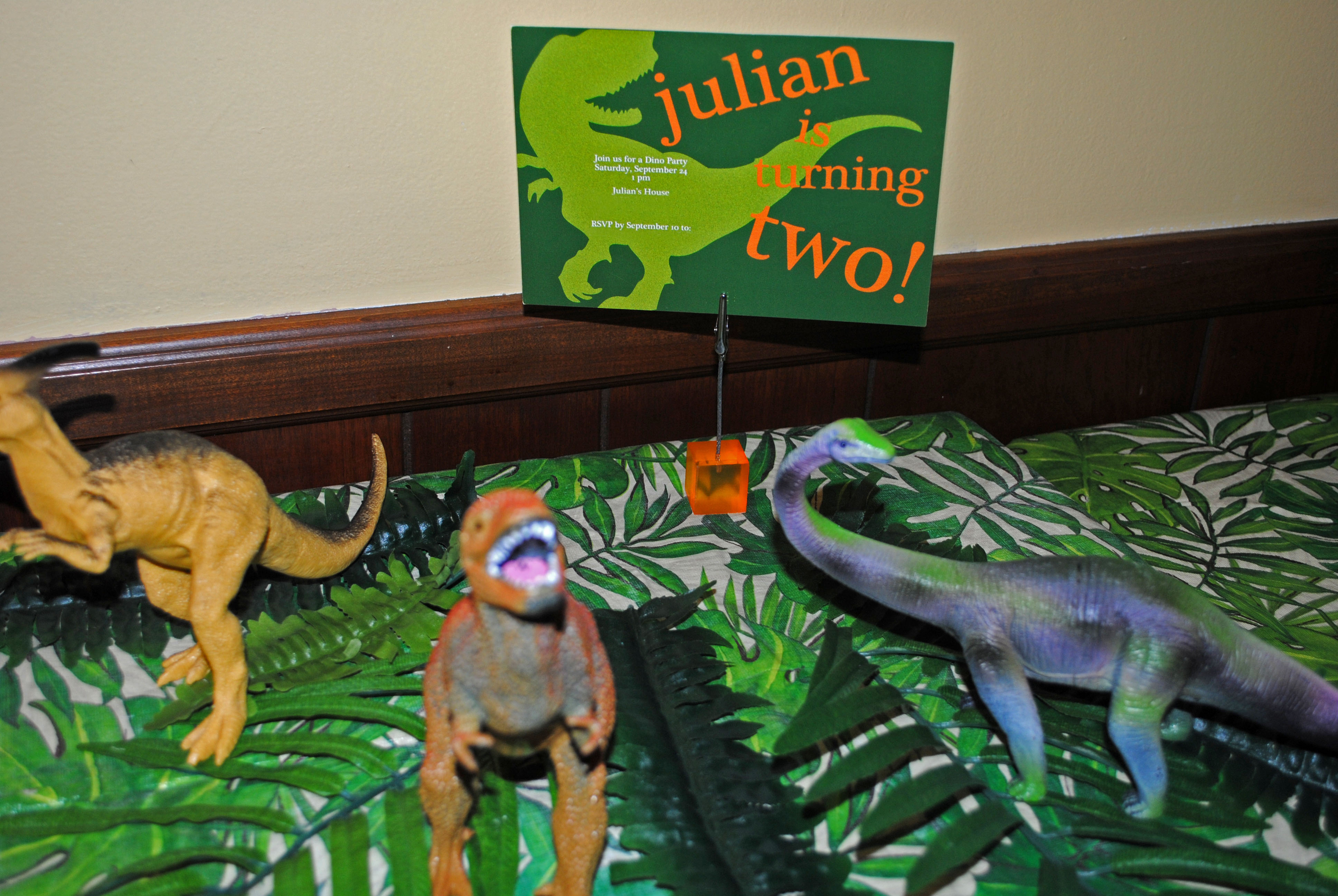 dinosaur second birthday party lemons and letterpress