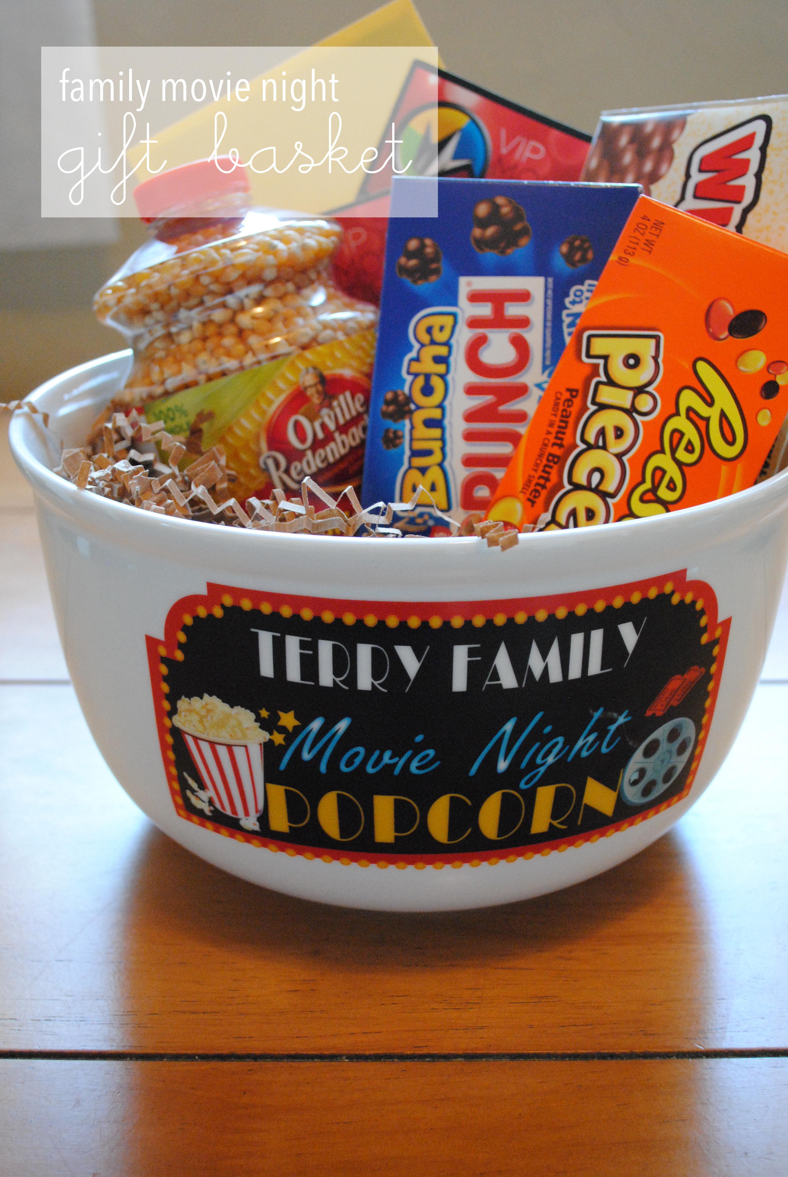 Family Movie Night Gift Basket Lemons And Letterpress